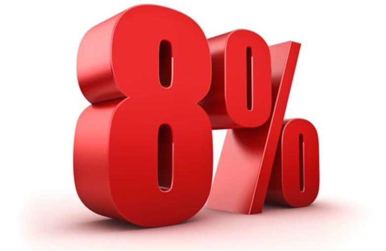 Daň 8%